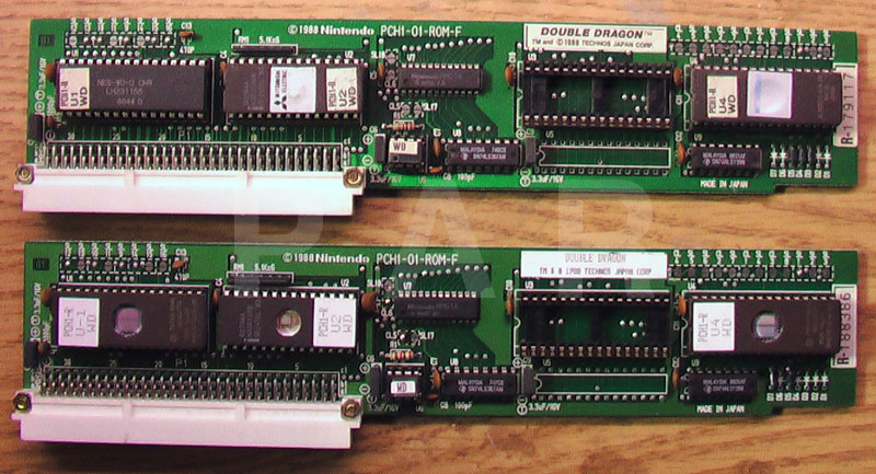 Playchoice Double Dragon PCB: Mask Roms, EPROMs.
