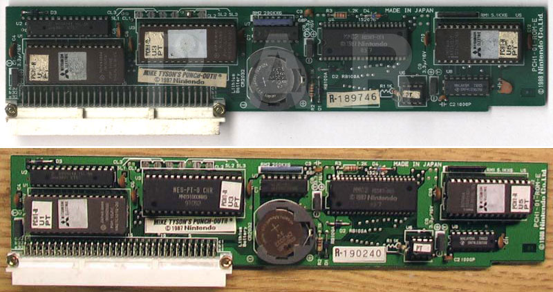 Playchoice Mike Tysons Punch-Out!! PCB: Mask ROMs