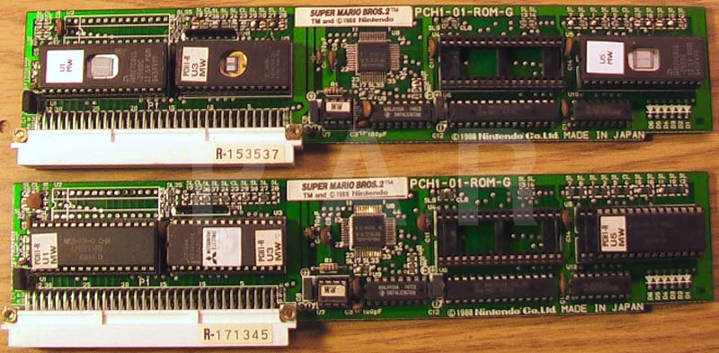Playchoice Super Mario Bros. 2 PCB: Mask ROMs, EPROMs