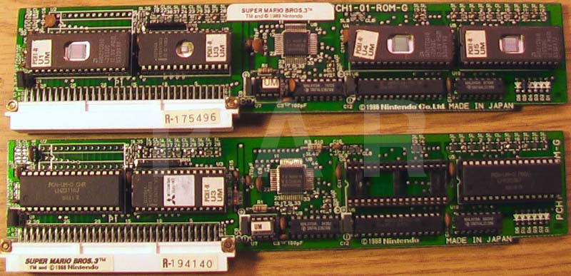 Playchoice Super Mario Bros. 3 PCB: Mask ROMs, EPROMs