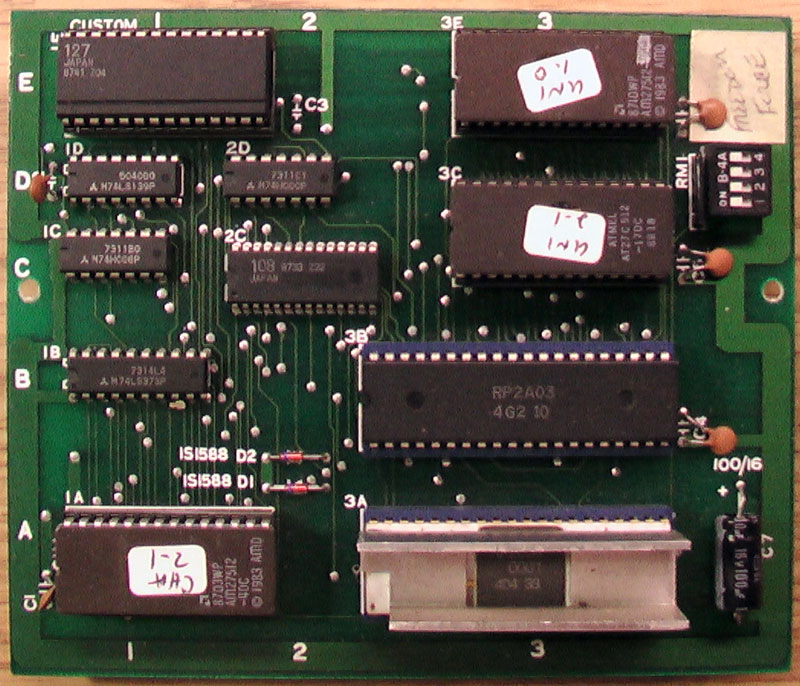Nintendo VS Freedom Force PCB.